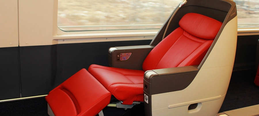 Business Class seats in high-speed trains