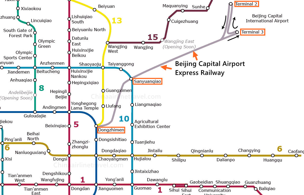 beijing airport express train map Beijing Capital International Airport Pek Express Train Guides beijing airport express train map