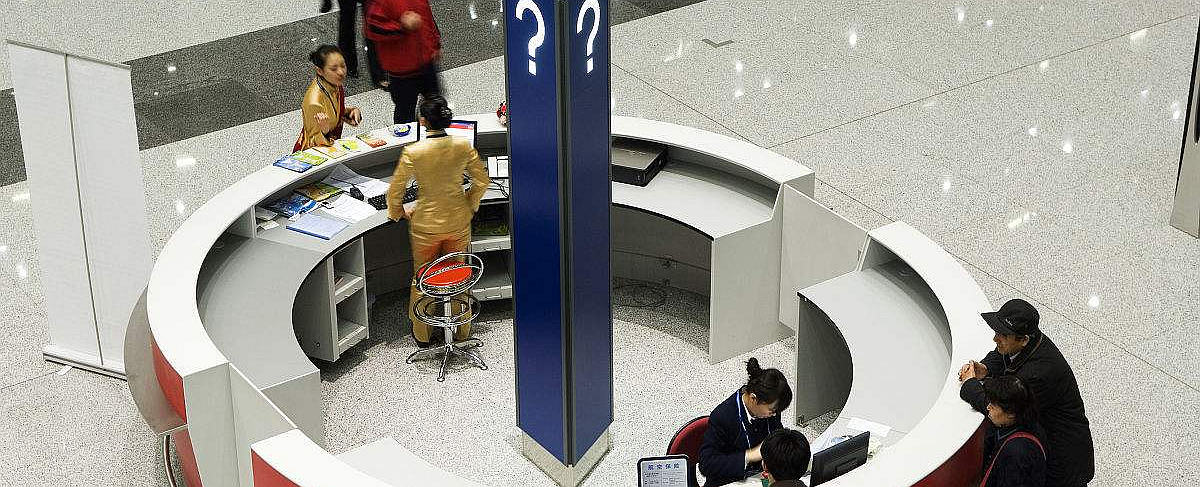 Beijing Capital Airport passenger counter