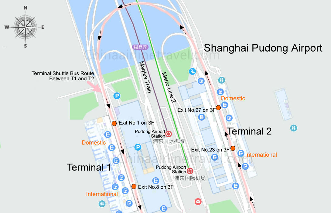 Shanghai Pudong Airport Terminal 1 and Terminal 2 Map, T1 ... on map of china tourism, map of china railway, major city airports, new zealand airports, map of china shipping ports, map of china canals, map of china weather forecast, map of china rivers, map of china food, china's airports, map of china with cities, map of china climate, map of china events, map of china manufacturing, map of china mining, map of china rail network, map of china ocean ports, map of china sea ports, map of china provinces, map of china coastline,