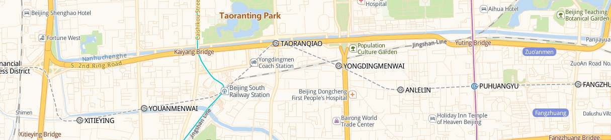 Beijing South Railway station map