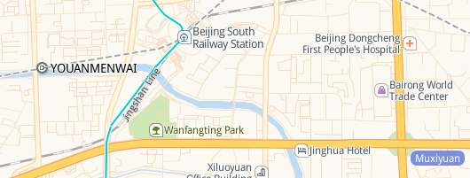 map of Beijing South Railway station