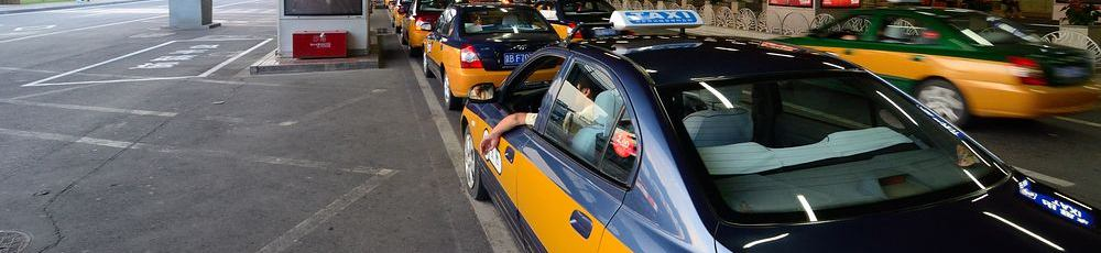 Taxi at Beijing South Railway Station