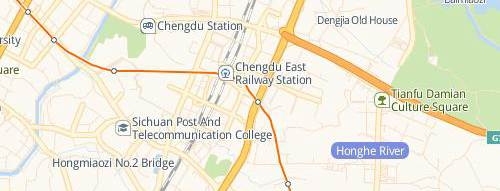 map of Chengdu East Railway station