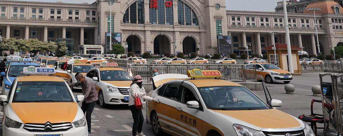 Taxi to Hankou Railway Station