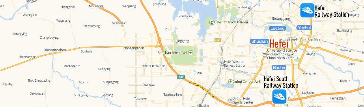 Map of Hefei South Railway Station, Map of Hefei high speed train station, location