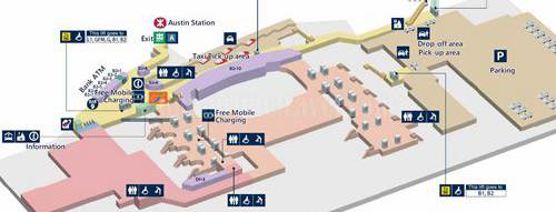 Layout map of Hong Kong West Kowloon Railway station