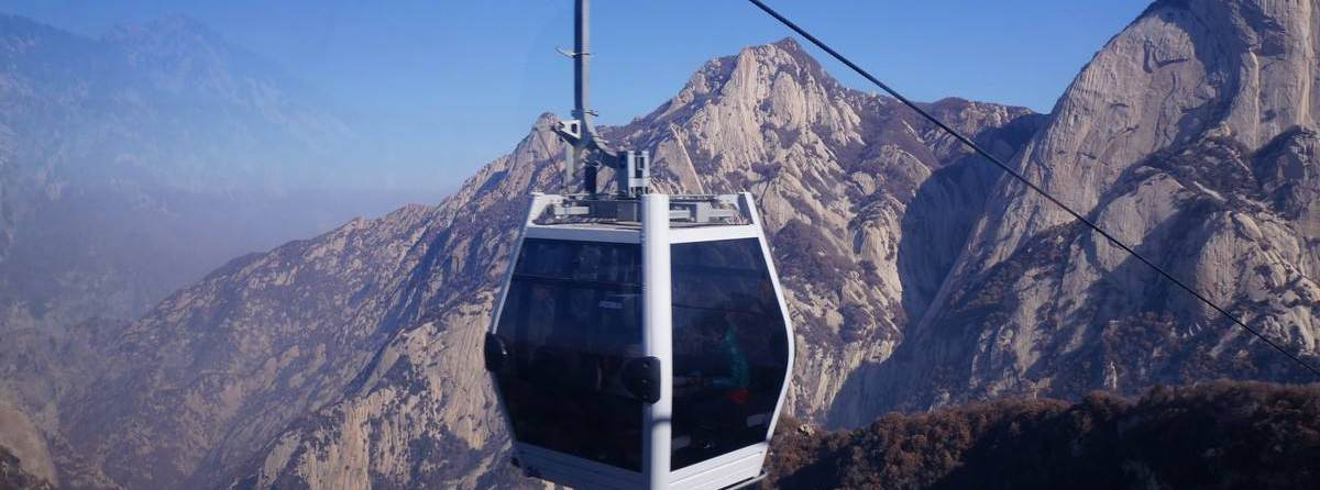 Cable Car at Mount Hua