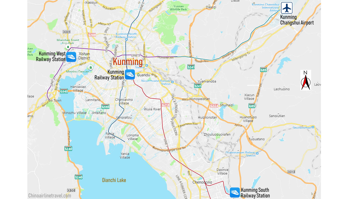 Map of Kunshan Railway station, Kunshan Train Station Map