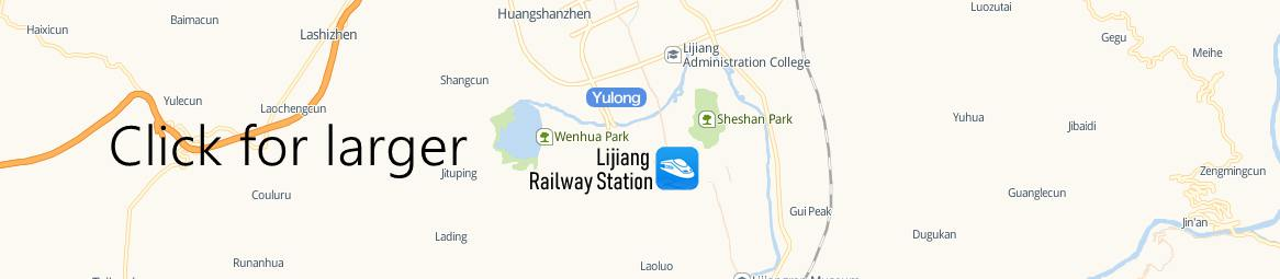 Map of Lijiang Railway station, Lijiang Train Station Map