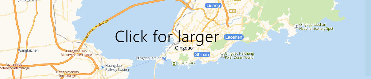 Map of Qingdao Railway station, Qingdao Train Station