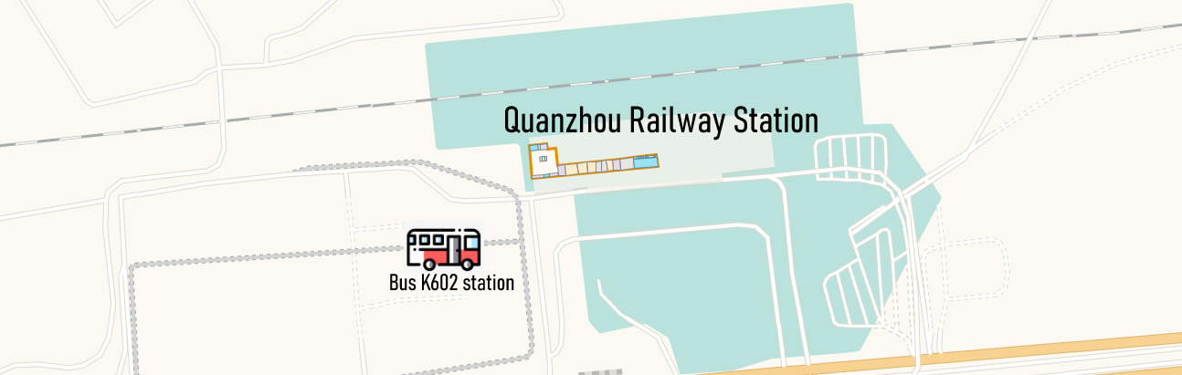 Airport bus k602 map, location, to Quanzhou Jinjiang Airport from Quanzhou Railway Station