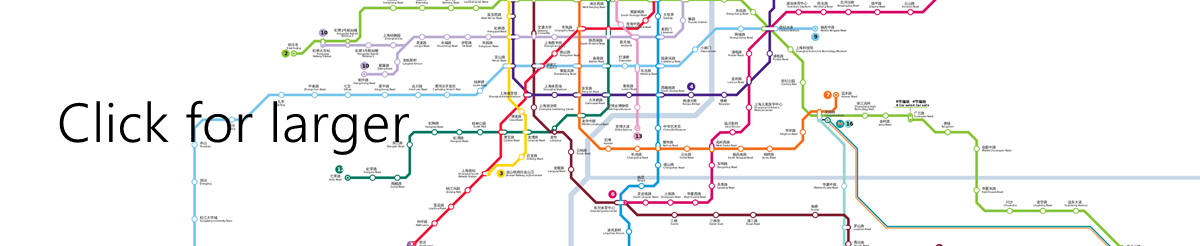 Shanghai Subway Map, Metro Map