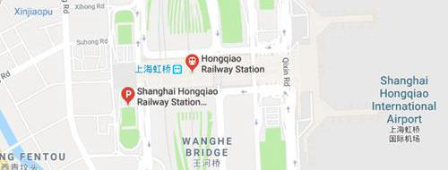 map of Shanghai Hongqiao Railway station