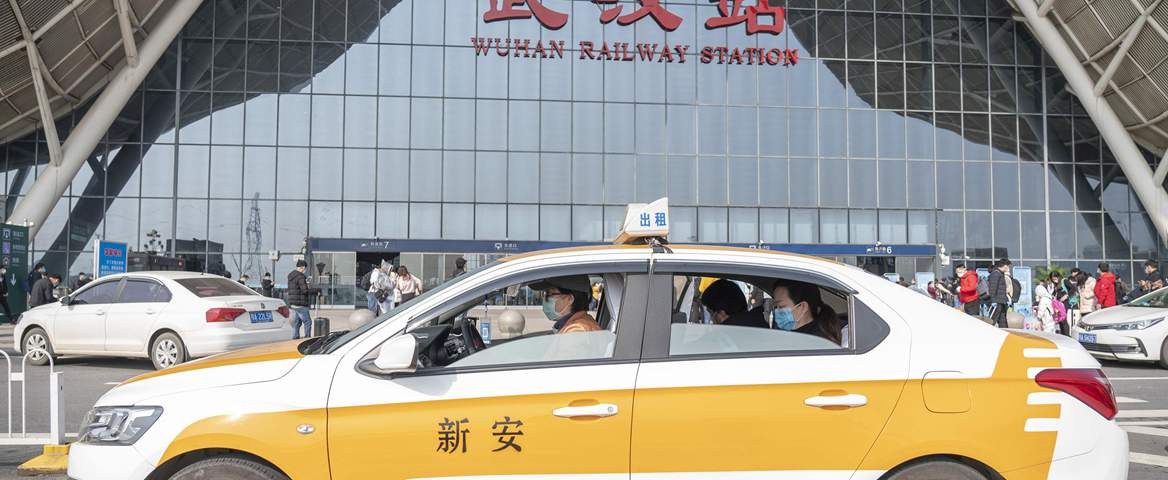 Taxi to Wuhan Railway Station