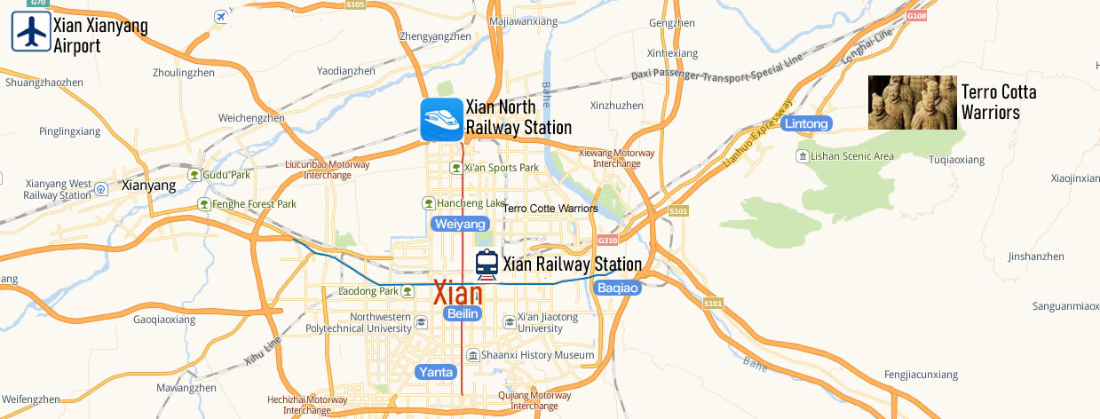 Xian North Railway Station Map Location Address