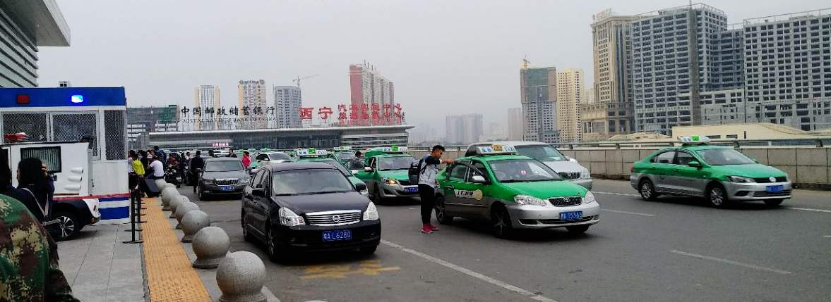 Taxi to Xining Railway Station