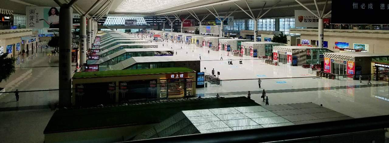Departures hall at zhengzhou-east Railway station