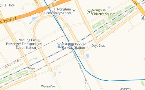 map of Nanjing South Railway station
