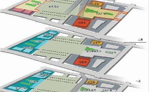 Layout map of Shenzhen North Railway station