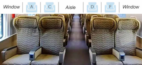 First Class seats on high-speed trains in China