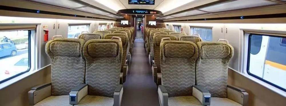 First class seats in high-speed trains, bullet trains, China