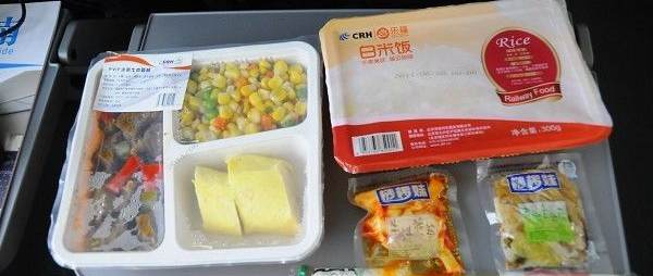 Food, meals in high-speed trains