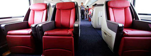 Business Class seats on high-speed trains