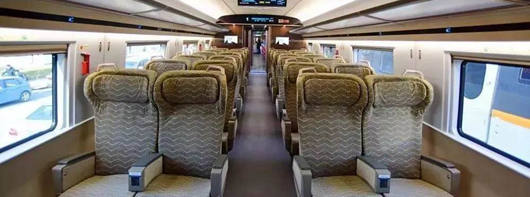 First Class seats on high-speed trains