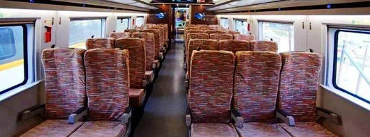 Second Class seats on high-speed trains