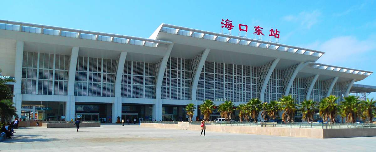 Haikou Railway Station, bullet trains, high speed trains Haikou to Sanya