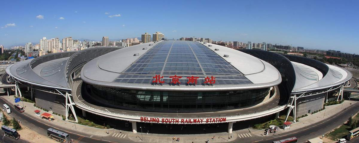 Beijing South Railway Station, bullet trains, high speed trains to Tianjin