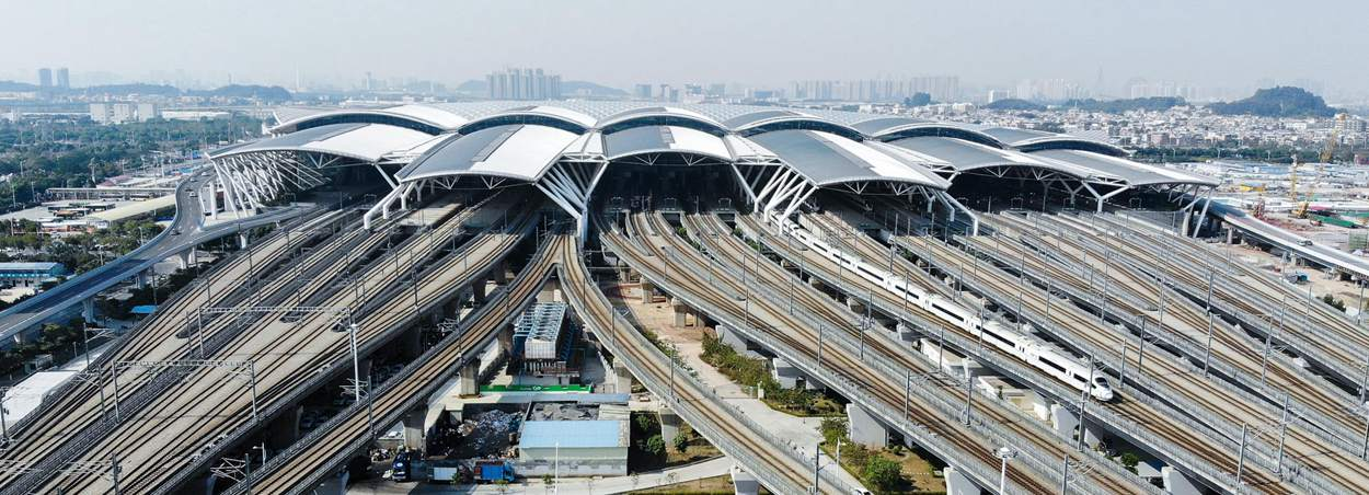 Guangzhou South Railway Station, bullet trains, high speed trains to Changsha