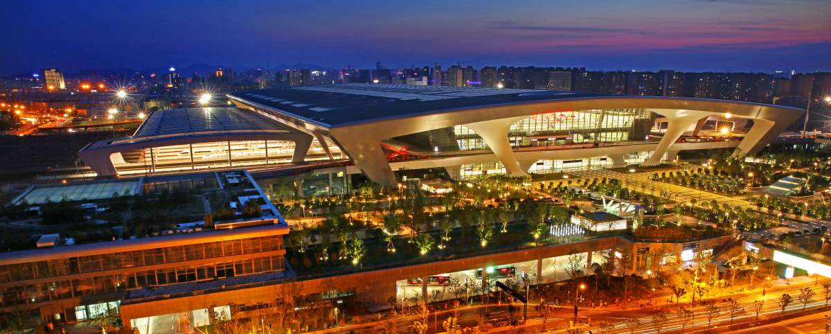 Hangzhou East Railway Station, bullet trains, high speed trains to Taizhou